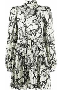 Saint Laurent Vestido Com Estampa Floral - Branco
