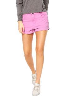 Short Sarja Billabong Color Rosa