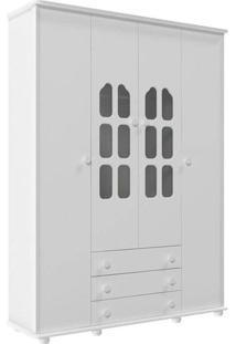 Guarda-Roupa Amore 4 Portas Branco Fosco - Matic Móveis