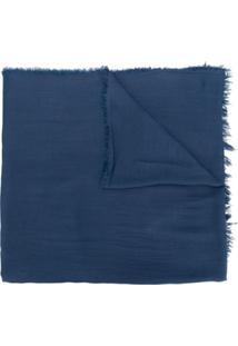 Monnalisa Echarpe Com Franjas - Azul