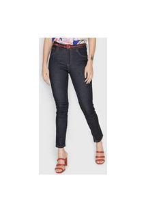 Calça Jeans Cantão Slim Pespontos Azul-Marinho