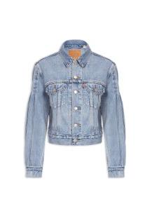 Jaqueta Feminina Jeans Full Sleeve Trucker - Azul
