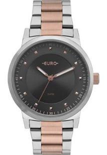 Relógio Euro Analógico Bicolor Trendy Feminino - Feminino-Rosa Claro