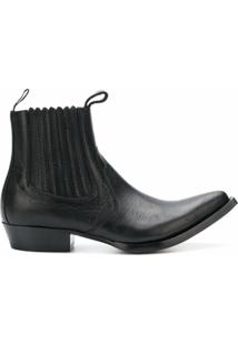Givenchy Ankle Boot 'Western' De Couro - Preto
