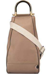 Jw Anderson Small Wedge Shoulder Bag - Marrom