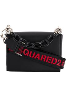 Dsquared2 Bolsa Tote Com Logo - Preto