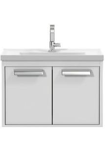 Gabinete De Banheiro Cerocha Com Lavatório 51Cm Branco Rigel