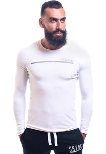 Camisa De Compressão Manga Longa Shatark - Branco