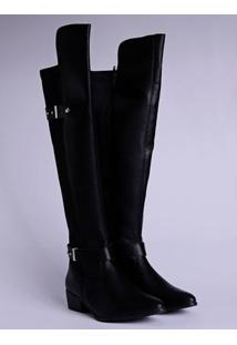 Bota Over The Knee Feminina Via Marte Preto