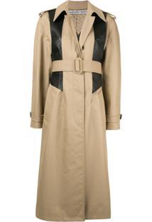 Alexander Wang Trench Coat Com Recorte Texturizado - Marrom