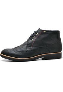 Sapato Masculino Reta Oposta Oxford 31 Fly Preto