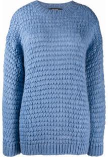 Twin-Set Loose Weave Jumper - Azul