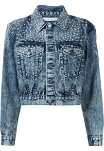 Alice+Olivia Jaqueta Jeans Com Tachas - Azul