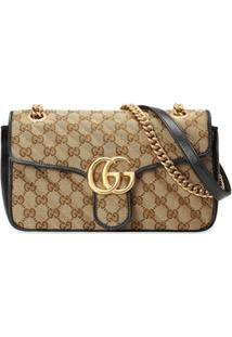 Gucci Small Gg Marmont Shoulder Bag - Neutro