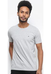 Camiseta Ellus Cotton Fine E Asa Classic Masculina - Masculino-Cinza