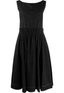 Marni Vestido Com Contraste - Preto