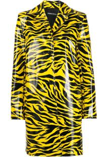 Kwaidan Editions Tiger Print Car Coat - Amarelo