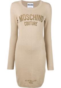 Moschino Vestido Slim 'Standard Size' - Neutro