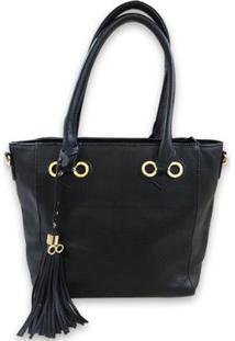 Bolsa Casual Sys Fashion 2755 Feminina - Feminino-Preto