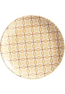 Prato Sobremesa Coup Hidráulica Cerâmica 6 Peças Porto Brasil