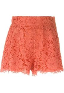 Dolce & Gabbana Short De Renda Floral - Amarelo