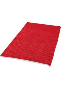 Tapete 40X60Cm Poliéster Vermelho Soft Coisas E Coisinhas