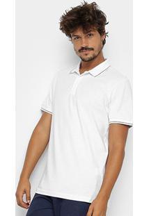 Camisa Polo Clássica Forum Masculina - Masculino-Branco