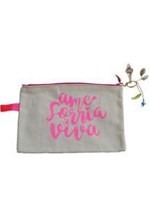 Necessaire Ania Store Votos Feminina - Feminino-Rosa