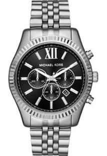 Relógio Michael Kors Feminino Essential Lexington - Mk8602/1Kn Mk8602/1Kn - Feminino-Prata