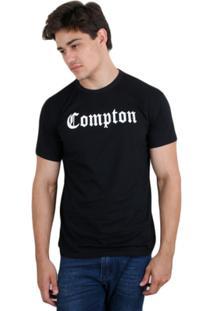 Camiseta Skill Head Compton - Masculino-Preto