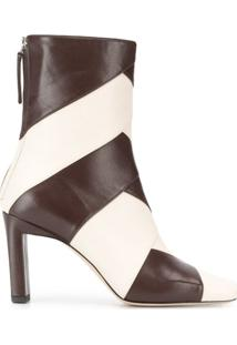 Wandler Ankle Boot Isa Bicolor - Marrom