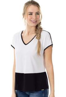 Blusa Com Decote V Branco