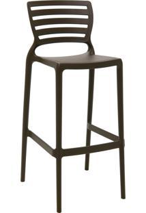 Cadeira Alta Bar Tramontina 92137109 Sofia C/ Encosto Vazado Marrom