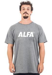 Camiseta Alfa Logo 2 - Masculino-Mescla Escuro