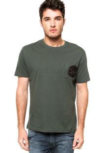 Camiseta Manga Curta Calvin Klein Jeans Bolso Verde