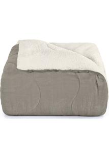 Edredom Casal, Hedrons, Sherpa, 2,20 X 2,40, Taupe