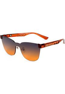 Óculos De Sol Mormaii Bela Marrom Translucido Brilho - Feminino-Marrom