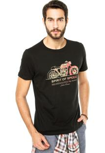 Camiseta Iódice Denim Spirit Of Speed Preta