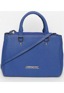 Bolsa Com Rebites & Tag- Azul Royal- 23X30X13Cmloucos E Santos