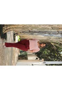 Blusa Almaria Plus Size Leeban Lisa Rosa