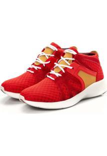 Tenis Sapatenis Top Franca Shoes Yezzi Vermelho