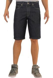 Bermuda Versatti Jeans Basica Reta Miami Azul