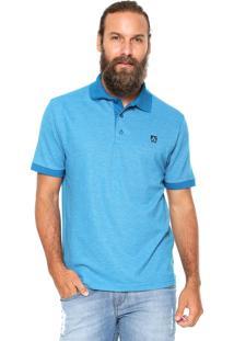 Camisa Polo Mr Kitsch Maga Curta Double Azul