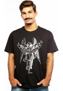 Camiseta Hardivision Anjo Manga Curta - Masculino