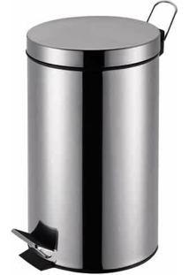 Lixeira Agata Inox Com Pedal 3L - Mor
