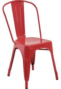 Cadeira Iron Sem Braços Vermelha Rivatti Móveis