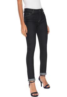 554637e0c49d5 ... Calça Jeans Lacoste Skinny Pespontos Azul-Marinho