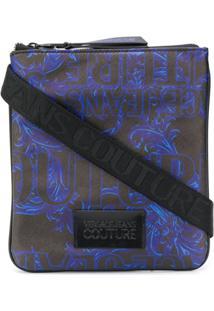 Versace Jeans Couture Bolsa Tiracolo Com Estampa De Logo - Preto