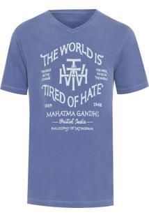 Camiseta Masculina Gandhi - Azul