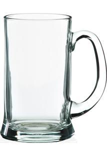 Caneca De Chopp Em Vidro Transparente Icon 400Ml